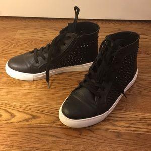 Steve Madden zipper up stud sneakers